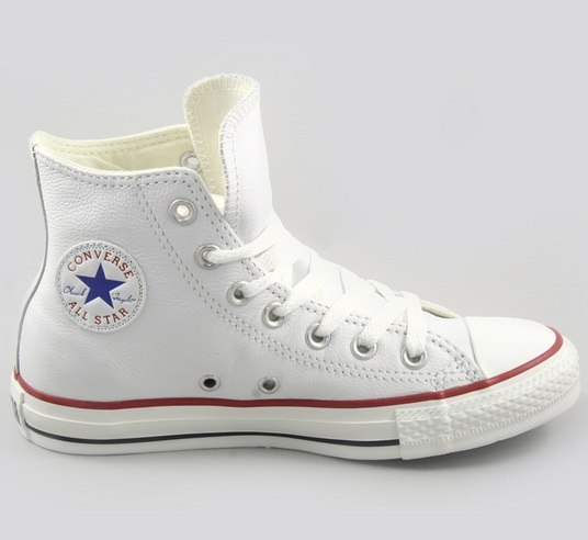 Пополните свой гардероб белыми высокими кожаными кедами Converse (конверс)  Chuck Taylor All Star! 262d276192918